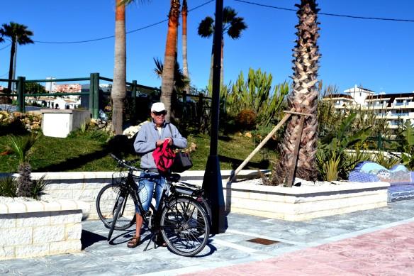 Cykeltur på stramdpromenaden i Estepona