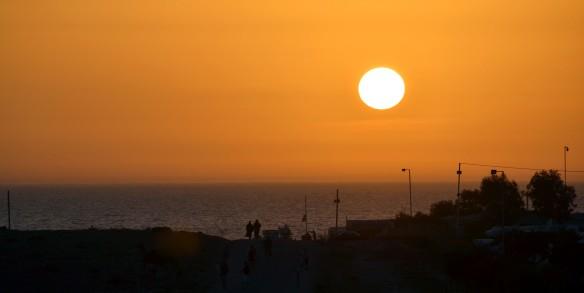 Solnedgång över Afrika
