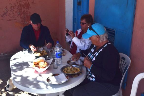 Lunch i en liten by