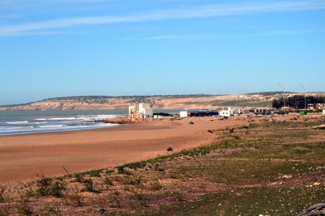 En öde strand