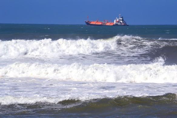 Båtar ligger ute på redden