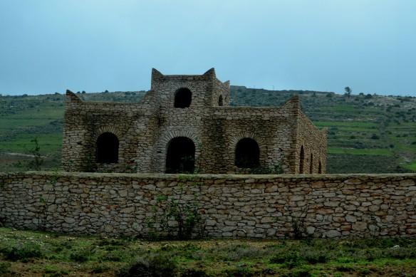 Huset liknar bron i Ronda