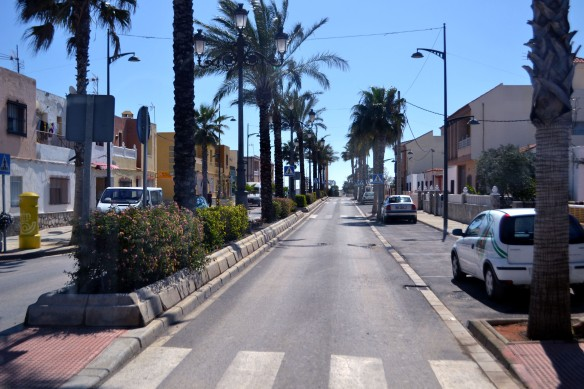Strandpromenaden i Roquetas
