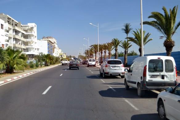 På väg in till Agadir