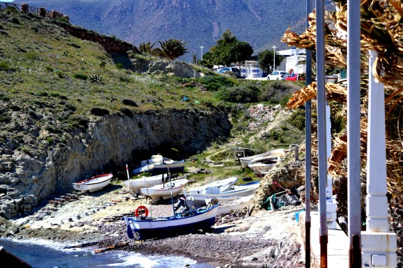 Fiskebåtar i La Isleta
