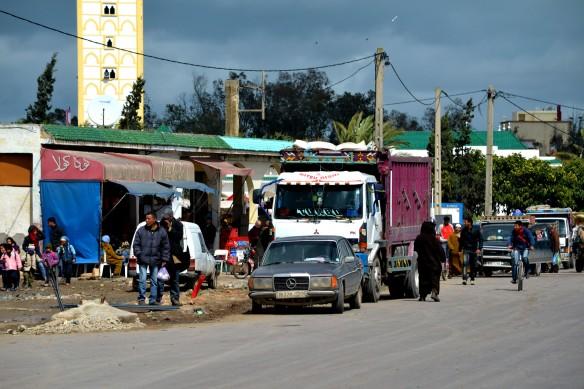 Marknad i byn