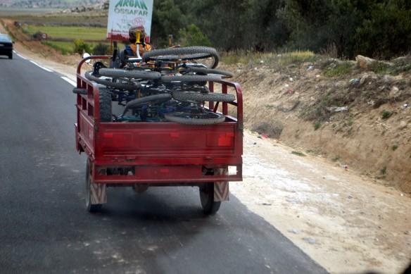 Kärra lastad med cykelhjul