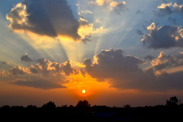 Soluppgång i Kambodja