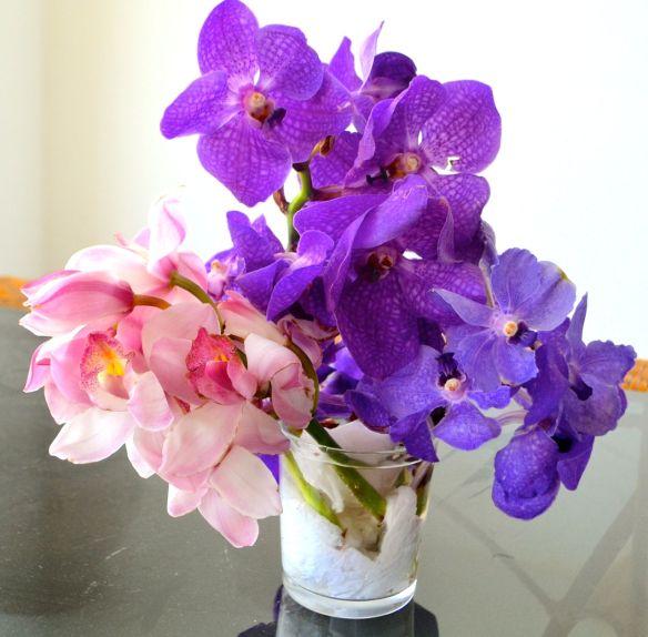 Bukett orkideer