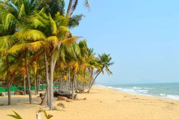 Palmstrand i Ban Krut