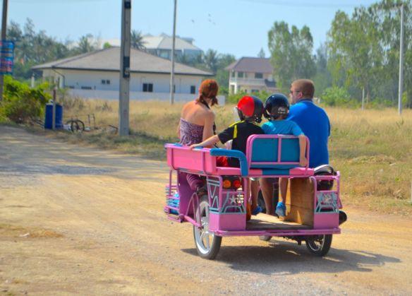 Rosa trehjuling