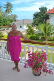 Ulla på balkongen