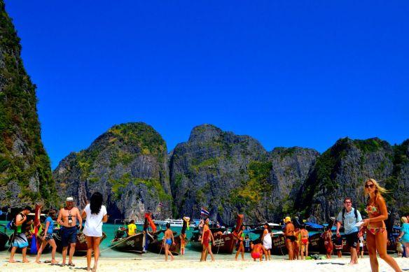 Stranden i Maya Bay