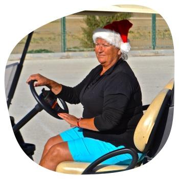 Ulla i golfbil
