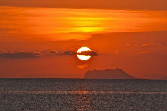 Solnedgång i Azoiha