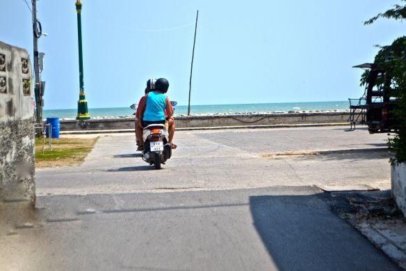 Moppen mot stranden