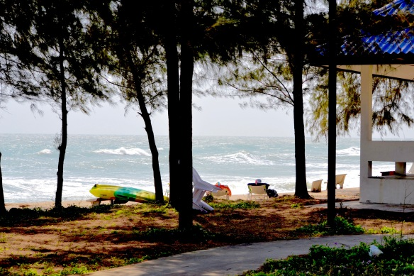 Stolar på stranden