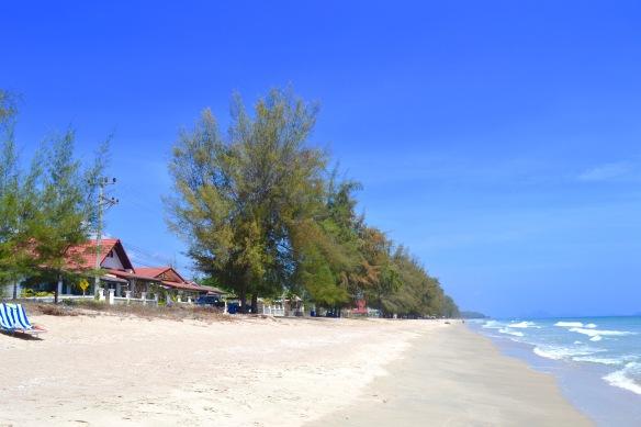 Våra hus och vår strand